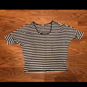 Express Striped Sleeved Blouse